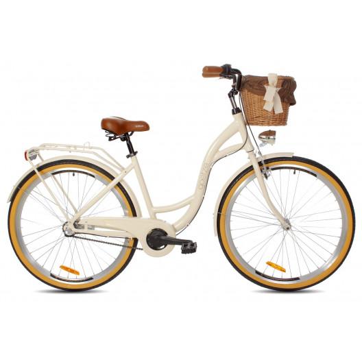 Dámský městský kolo Goetze Style 28 3B Alu pískový+ košík