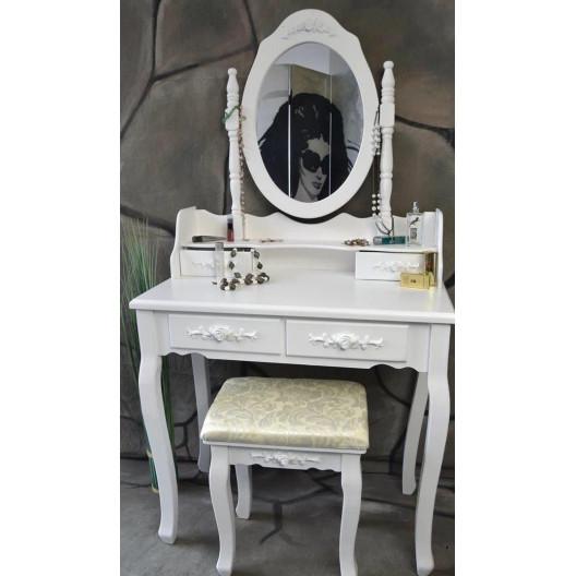 Toaletní stolek s kosmetickým zrcadlem + stolička Marie Thérèse