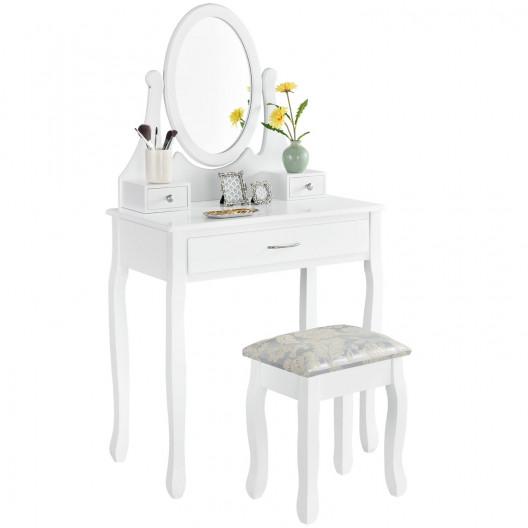 Toaletní kosmetický stolek TATIANA bílý
