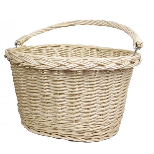 Proutěný košík Bílý