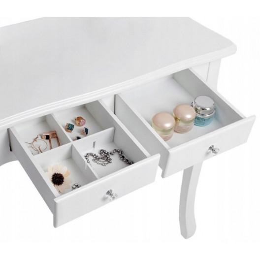 Toaletní Kosmetický stolek ROMANTIC + LED zrcadlo