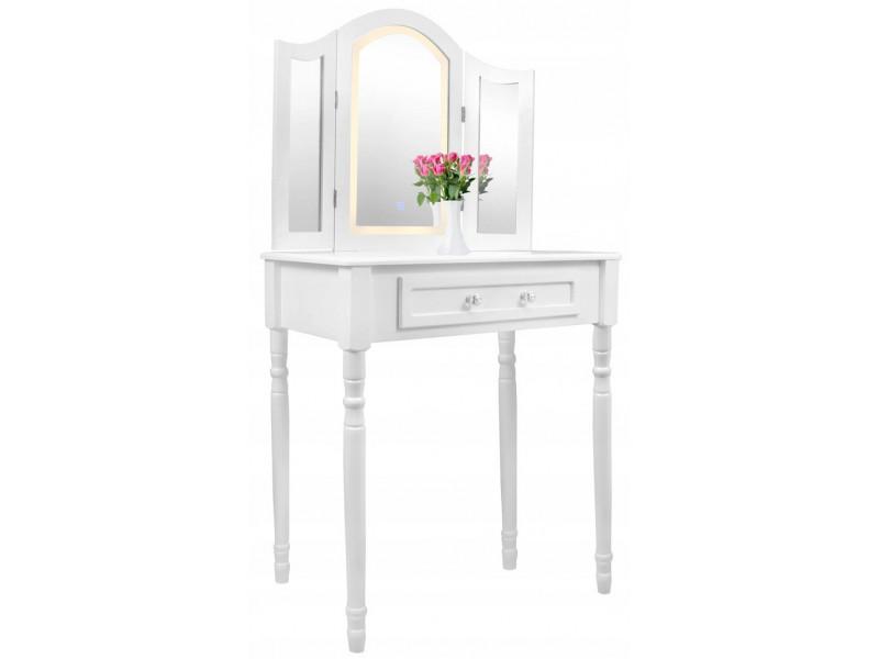 Kosmetický stolek s 3 zrcadly + židle