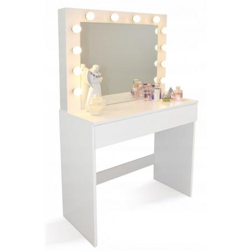 Toaletní stolek s osvětlením zrcadla HOLLYWOOD